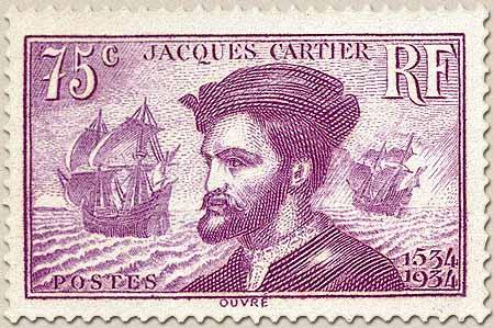 4è centenaire de l'arrivée de Jacques Cartier (1491-1557) au Canada.