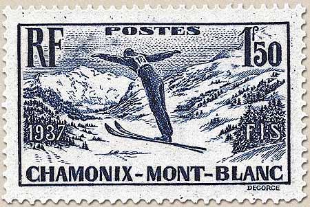 Championnats internationaux de ski, à Chamonix